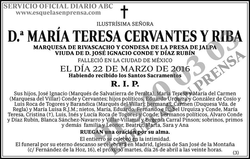 María Teresa Cervantes y Riba